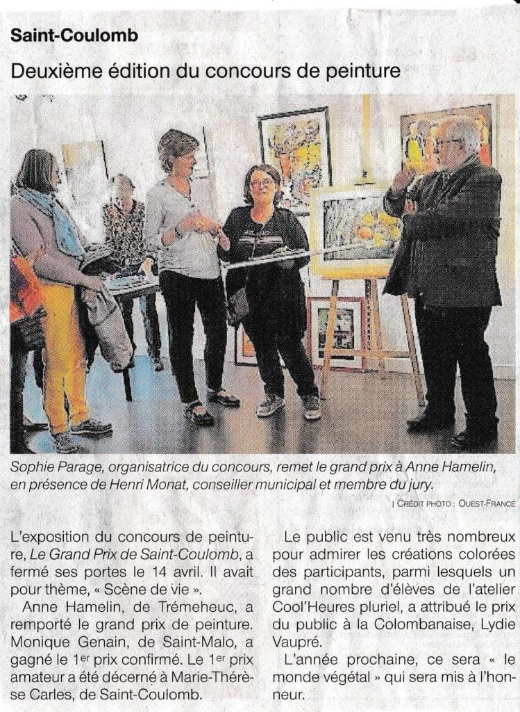 Article de presse Concours 2019 St Coulomb